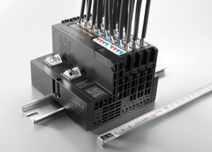"Weidmüller ""u-remote"": A never-before-seen performance density is achievable with the HD modules from Weidmüller's innovative I/O system. No other system is currently able to guarantee such compact connections between the sensors/actuators and control."