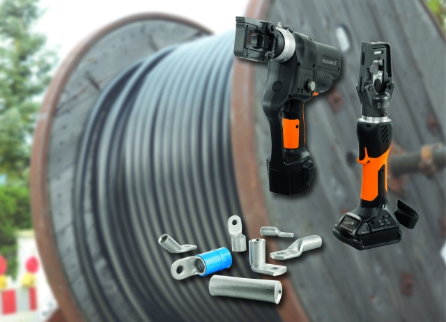 Weidmüller crimping tools for large cross-sections: Weidmüller's extensive range of crimping and cutting tools for large cross-sections are suitable for the most diverse of applications in power distribution and supply.