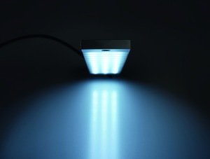 The LED light has a wide 20-degree beam angle to illuminate a large area.